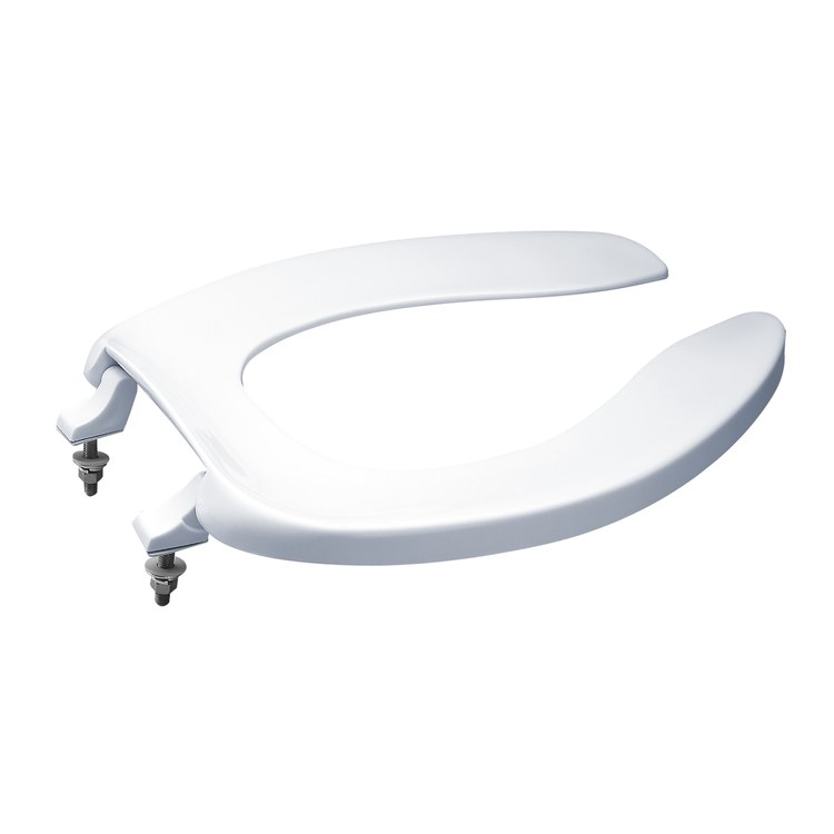 Toto SC534 01 Commercial Elongated Open Front Toilet Seat Without Lid EBay