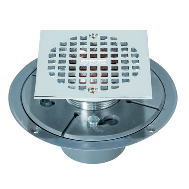 Shower Drain Low Profile 2 X 3 Inch Chrome Plated PVC