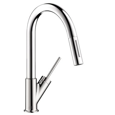Kitchen Faucet Axor Starck Prep 1 Joystick ADA Chrome Pull Down Swivel 150  Degrees