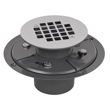 Shower Drain Low Profile 2 X 3 Inch Stainless Steel PVC